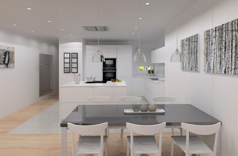 Dise o de interior para vivienda unifamiliar - Interiorismo salon comedor ...