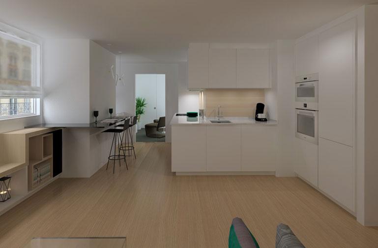 Dise o interior de vivienda interiorismo dc dc for Vivienda interior
