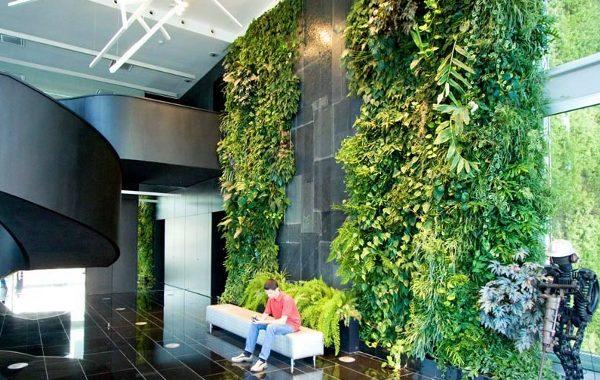 Tendencias feria de mobiliario mil n 2017 vegetaci n en for Cascada para jardin interior
