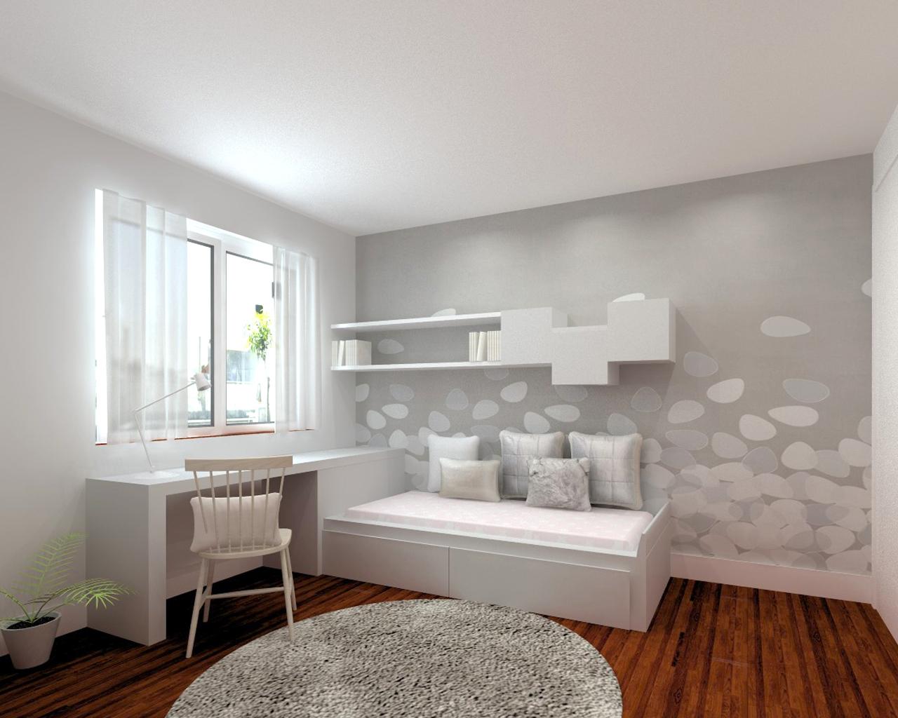 Dormitorio juvenil pensado para aprovechar al m ximo el for Presupuesto interiorismo
