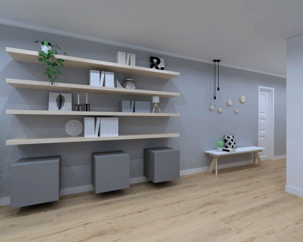 Distintos ambientes en un sal n interiorismo dc dc for Presupuesto interiorismo
