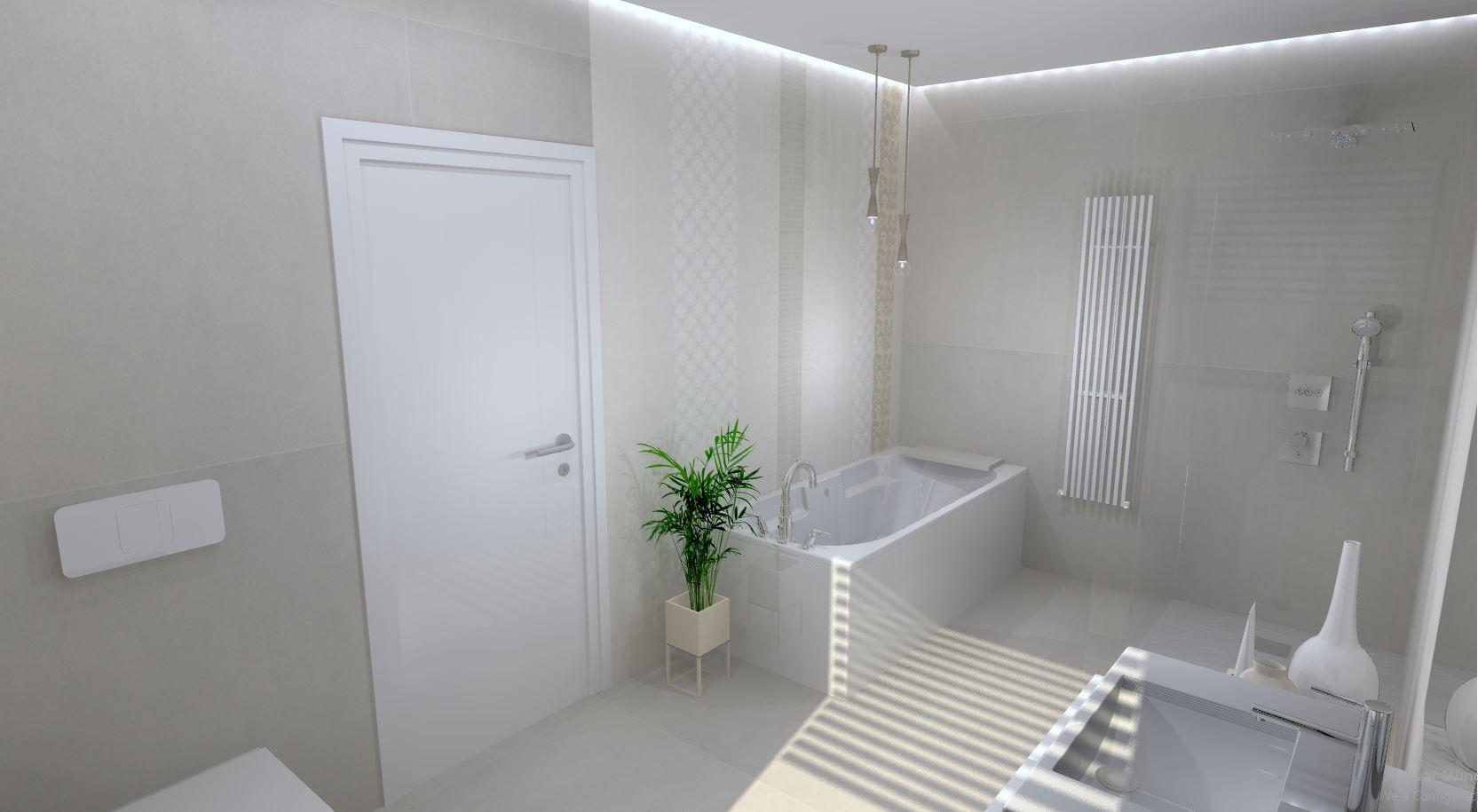 Geometría y claridad en un baño - Interiorismo DC & DC